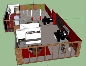 kantoor Sketchup 3d